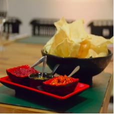 Pre-Starter: South Indian Poppadums with Special Chutney
